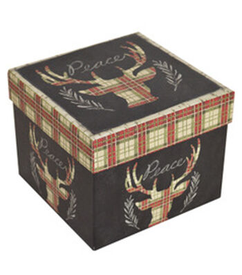 Maker's Holiday Large Square Storage Box-Deer