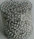 METALLIC SILVER PEARL CANISTER  4.0 MM