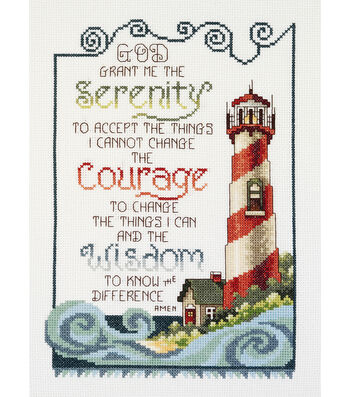 """Serenity Lighthouse Counted Cross Stitch Kit-7""""X10"""" 14 Count"""