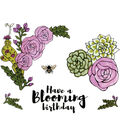 Sizzix™ Framelits™ Jen Long Dies with Stamps-Blooming Florals