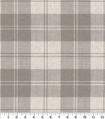 ED Ellen DeGeneres Upholstery Fabric 54''-Shale Farham Plaid