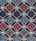 Doodles Collection Fabric -  Majestic Interlock Small Medallion Multi