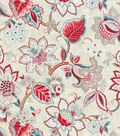 Waverly Upholstery Fabric 54\u0022-Floral Fresh Strawberry