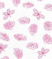 Keepsake Calico™ Cotton Fabric 43''-Butterfly & Floral, , hi-res