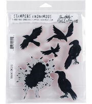 "Tim Holtz Cling Stamps 7""X8.5""-Ravens, , hi-res"