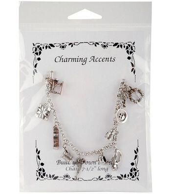 Charm Bracelet-Sewing 7-1/2'' Long