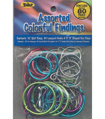 Assorted Lanyard Hooks, Split Rings And Key Rings Used In Craft Projects