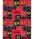 Chicago Blackhawks Cotton Fabric 43\u0027\u0027-Block