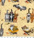 Novelty Cotton Fabric 43\u0027\u0027-Kittens At The Beach