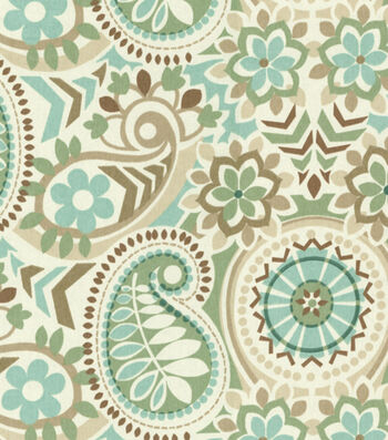 "Waverly Upholstery Fabric 55""--Paisley Prism Latte"