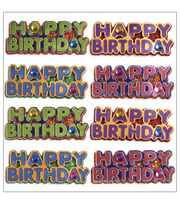 Jolee's Mini Repeats Stickers-Happy Birthday Words, , hi-res
