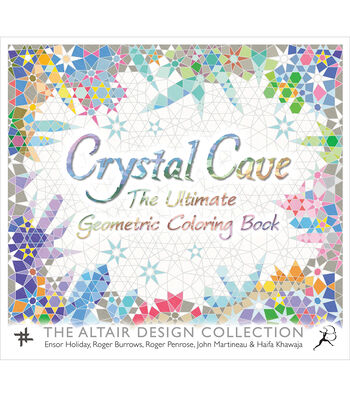 Crystal Cave Geometric Coloring Book