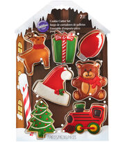 Wilton® Metal Cookie Cutter Set-Santa's Workshop, , hi-res