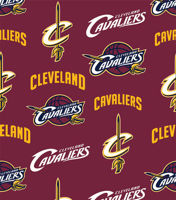 Cleveland Cavaliers Fleece Fabric 60''-Tossed
