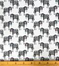 Doodles Juvenile Apparel Fabric-Zebra Interlock