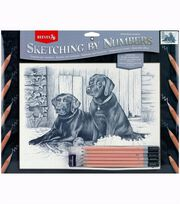 "Sketching By Number Kit 13""X16""-Black Labrador, , hi-res"