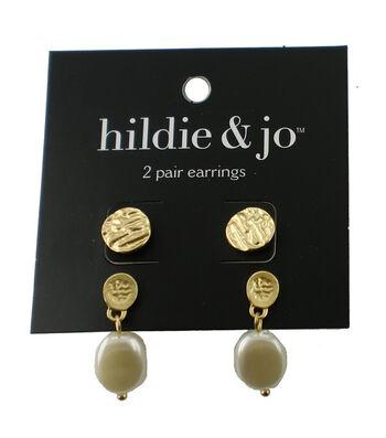 hildie & jo™ 2 Pack Gold Earrings