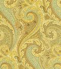 Williamsburg Solid Fabric 54\u0022-Jaipur Paisley/Moonstone