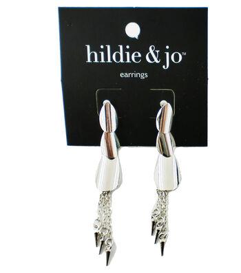 hildie & jo™ Tassel Silver Earrings
