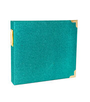 Project Life Heidi Swapp 8''x8'' Album-Teal Glitter, , hi-res
