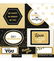 Kaisercraft A Touch Of Gold 12''x12'' Double-Sided Cardstock-Lavish, , hi-res