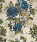 Vintage Cotton Fabric 43\u0022-Floral Bouquet Tan