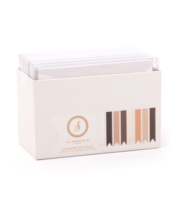 Ms. Sparkle & Co. Pack of 40 A2 Cards & Envelopes-Shimmer Neutrals