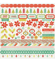 "Mistletoe Cardstock Stickers 12""X12"", , hi-res"