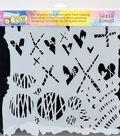 Crafter\u0027s Workshop Marlene Template 12\u0027\u0027x12\u0027\u0027-Graffiti Kisses