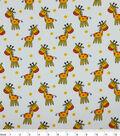 Snuggle Flannel Fabric 42\u0022-Happy Giraffes