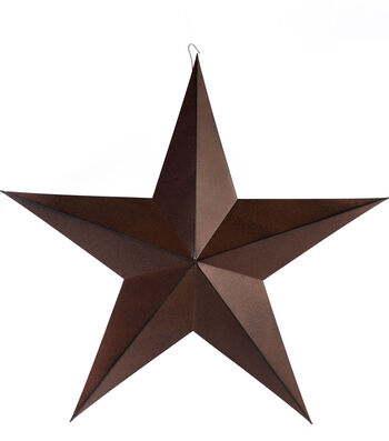 Americana Patriotic 24'' Metal Star-Rust Black