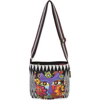 Laurel Burch Blossoming Feline Crossbody 13.5''X4''X10''