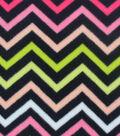 Anti-Pill Fleece Fabric 59\u0022-Strawberry Pink Chevron