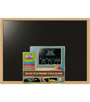 Wood Style Framed Chalk Board