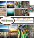 Reminisce Collection Kit 12\u0022X12\u0022-Gone Fishing