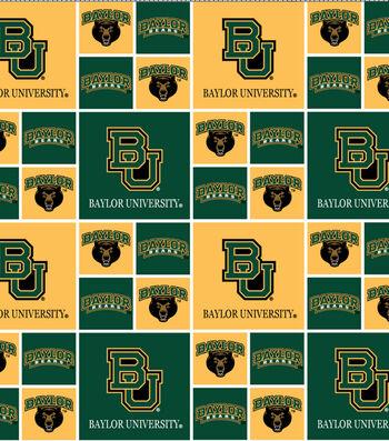 "Baylor University Bears Cotton Fabric 43""-Block"