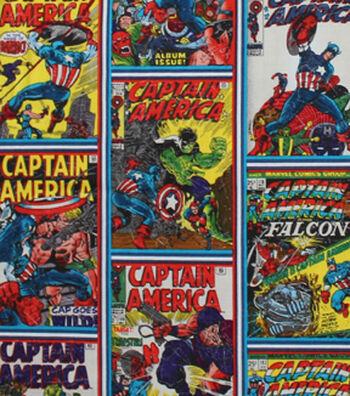 Marvel Comics™ Captain America Cotton Fabric 44''-Comic Book