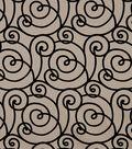 Robert Allen @ Home Upholstery Fabric 57\u0022-Flocked Scroll Night Sky