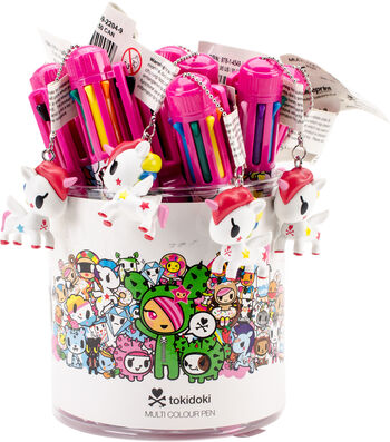 Tokidoki Click Pens-Multi-Color Unicorns