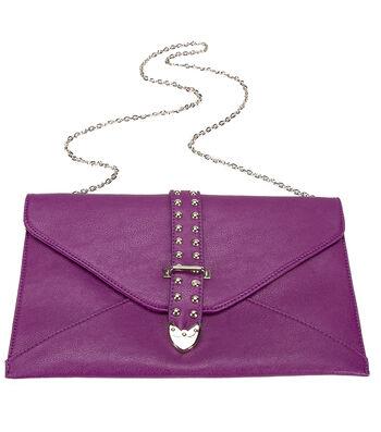 Purple ENVELOPE PURPLE CLUTCH