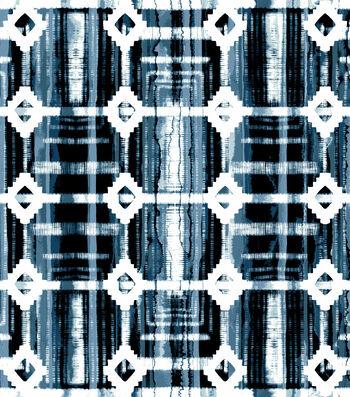 """3 Yard Pre-Cut Anti-Pill Fleece Fabric 59""""-Tie Dye Aztec Blue"""