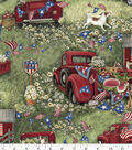Susan Winget Patriotic Cotton Fabric 43\u0027\u0027-Patriotic Picnic