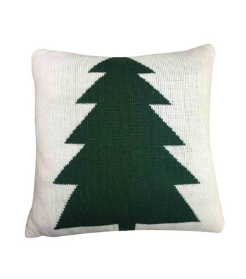 Maker's Holiday Christmas Knit Pillow-Tree