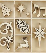 Kaisercraft Christmas Jewel Mini Themed Wooden Flourishes-Fancy Xmas, , hi-res