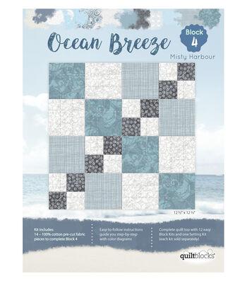 Quilt Block Ocean Breeze 14-Pieces Block 4 Kit-Misty Harbour