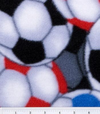 Anti-Pill Fleece Fabric 60''-Packed Soccer Balls