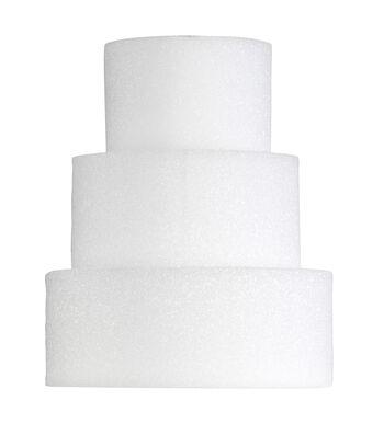 4X8In Foam Cake Form Wht