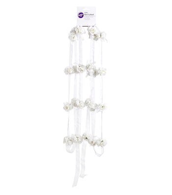 Wilton® 12' Organza Rose Garland-White