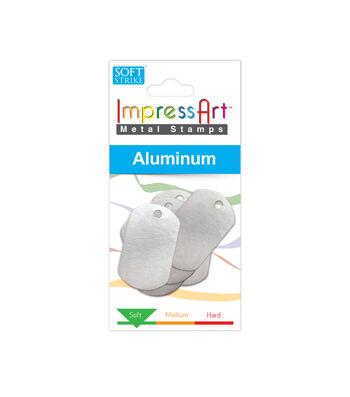 """ImpressArt's Dog Tag, Aluminum, 1 1/4"""" x 3/4"""", 6 Pcs."""