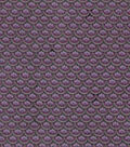 Vintage Cotton Fabric 43\u0022-Floral Scallops Dark Purple